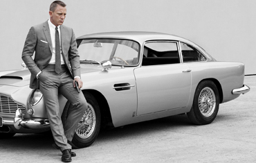 Hire an Aston Martin DB5 just like James Bonds 007